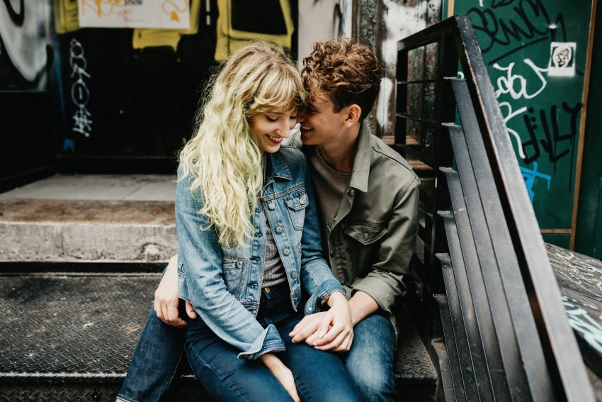 hipster chinatown engagement shoot