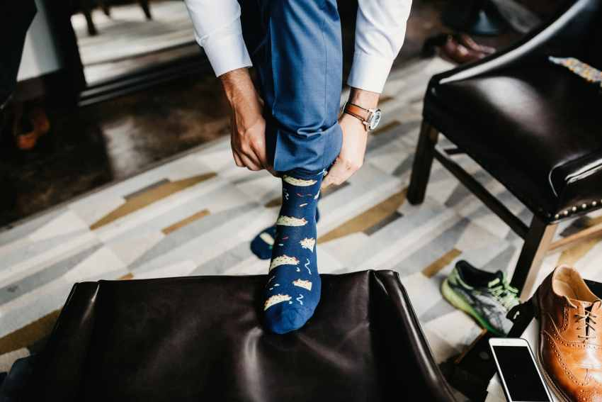 unique wedding socks