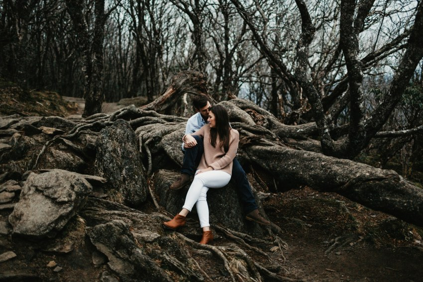 Brett & Jessica Photography | craggy gardens engagement photos