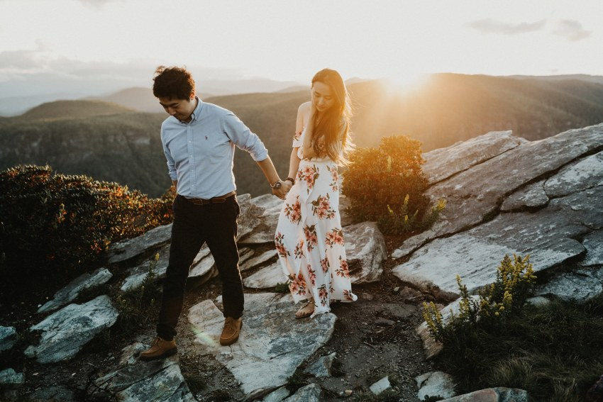 Brett & Jessica Photography | blue ridge mountains engagement photographers