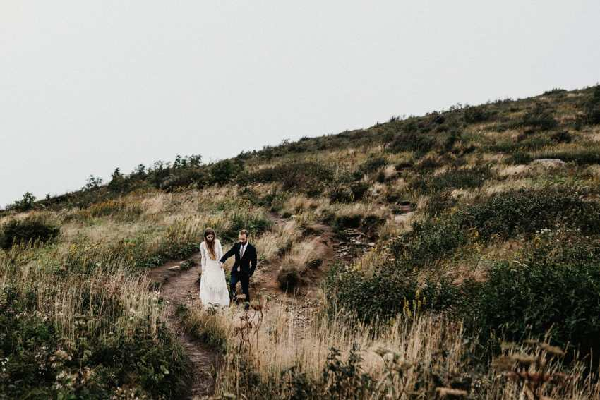 Blue ridge mountains wedding