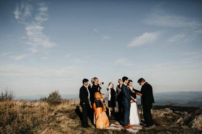 black balsam knob wedding ceremony