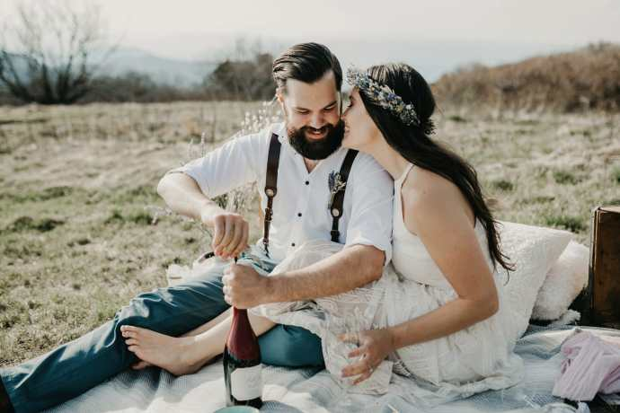 asheville elopement picnic