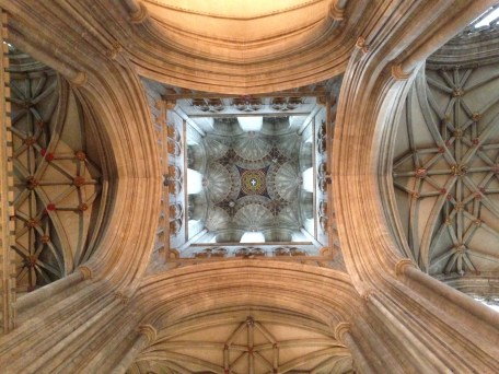 Vaulted ceiling in Canterbury Cathedral