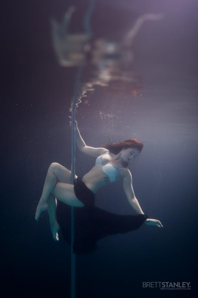 Underwater Pole DanceFitness  Brett Stanley Photography