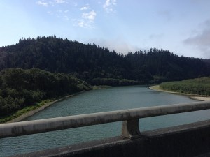18AUG Crossing a river near Redwood National Park