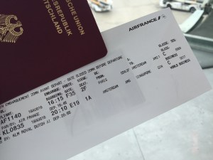Our boarding card - dircetly until Singapore!