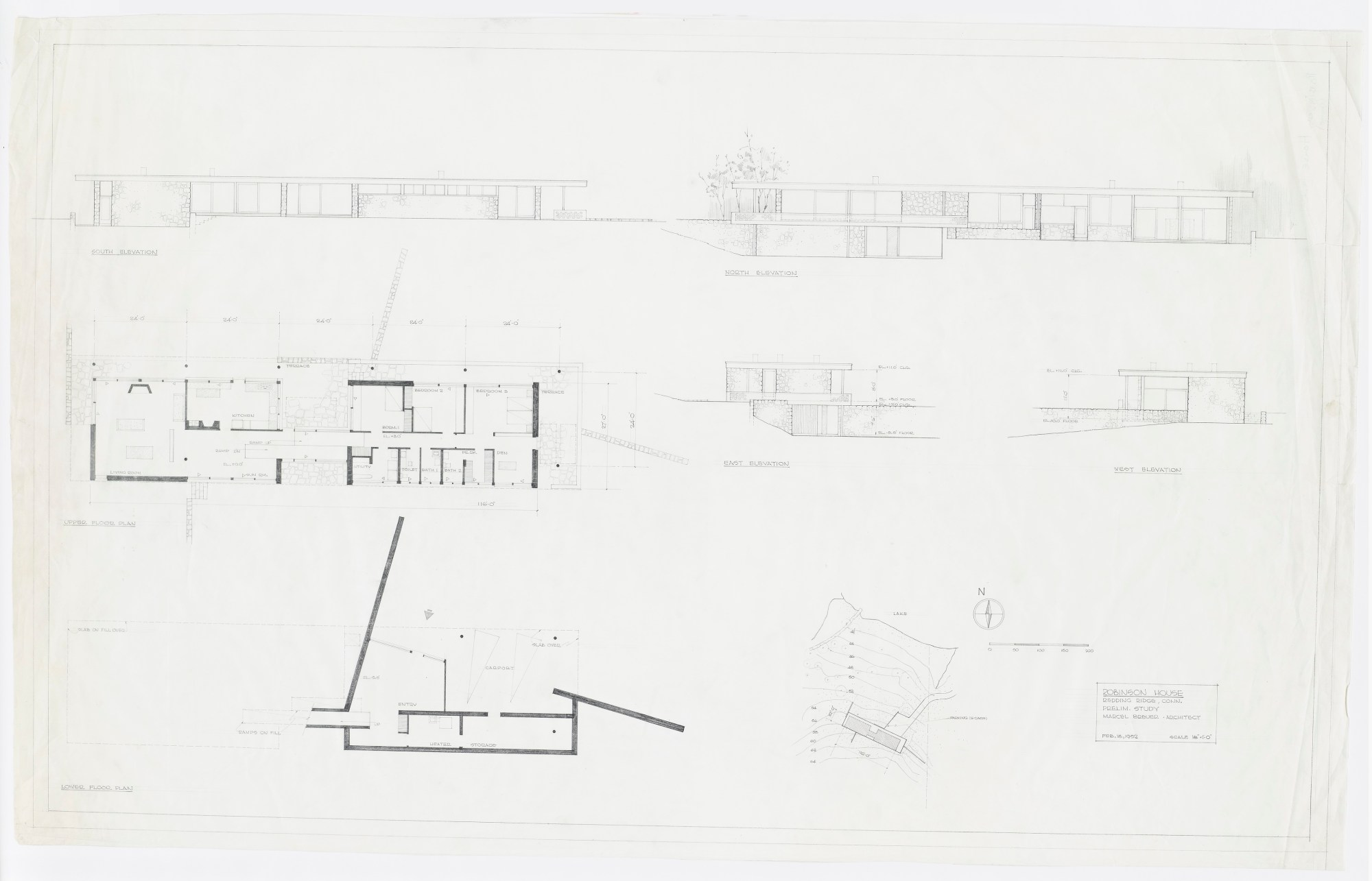hight resolution of robinson george house project type residential years 1951 1951