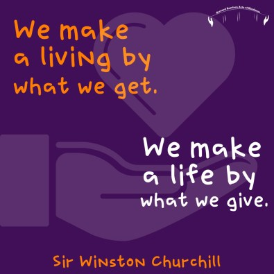 sir winston churchill quote giving