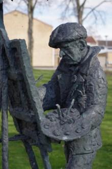 Per Ekström-Statue in Mörbylånga.