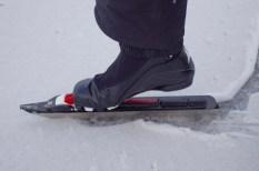 Långfärdsskridsko - Langstreckenschlittschuh mit Langlaufbindung