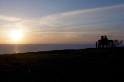 Sonnenuntergang am Kullaberg.