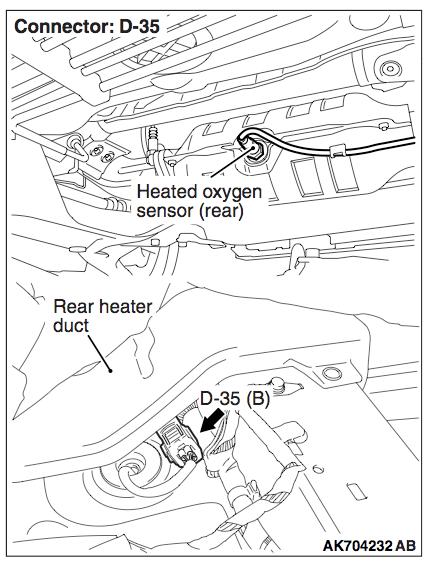 Mitsubishi O2 Sensor Wiring Diagram