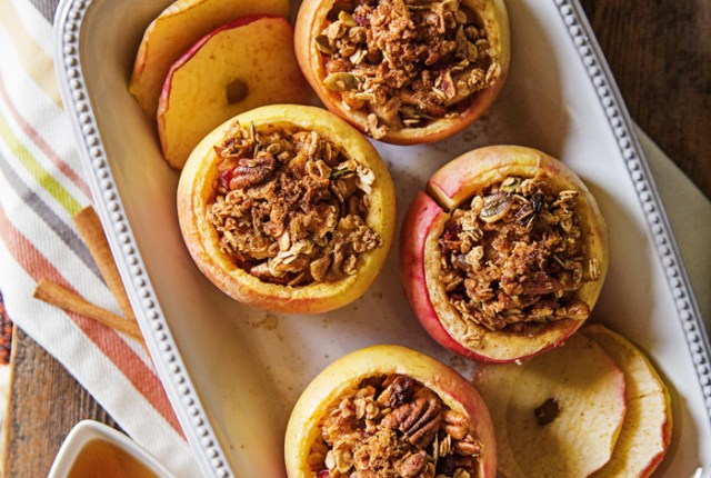 Enjoy the best of the season with this delicious homemade stuffed apple cups recipe.   Brewedtogether.com
