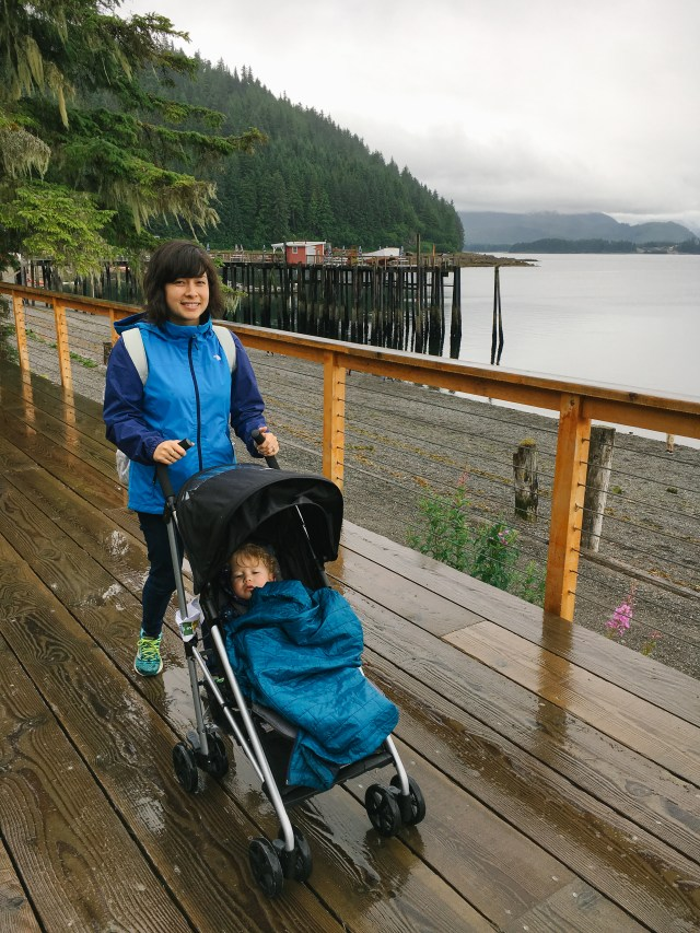 We are partnering with Evenflo to share about why a stroller is essential when traveling as a family with a young toddler in Alaska. | brewedtogether.com