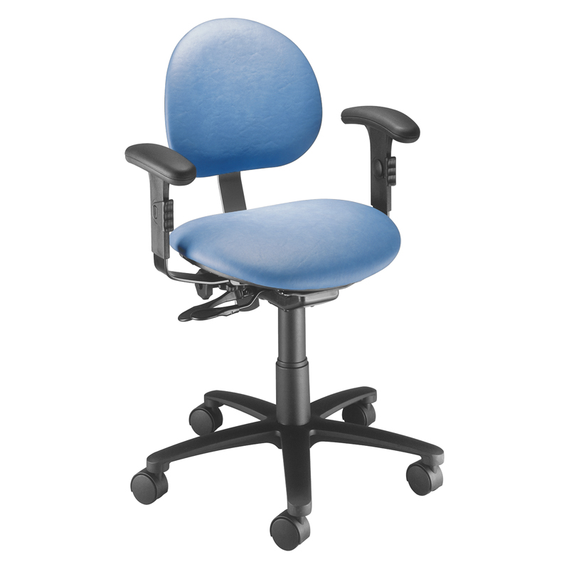 ergonomic chair without arms lazyboy office task stool brewer company millennium series with backrest and arm