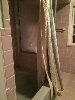 back of shower before