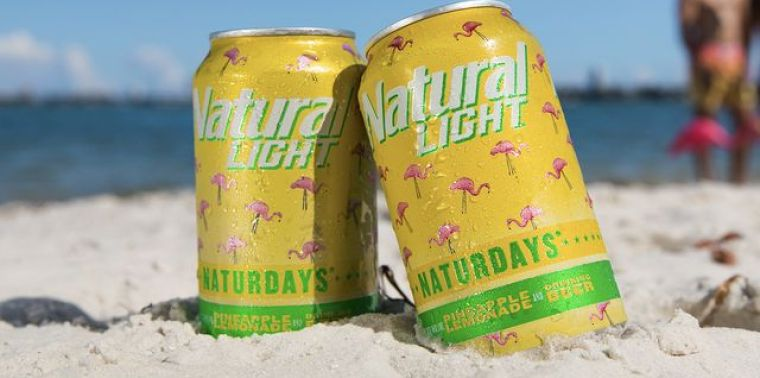Cans of Natural Light beer