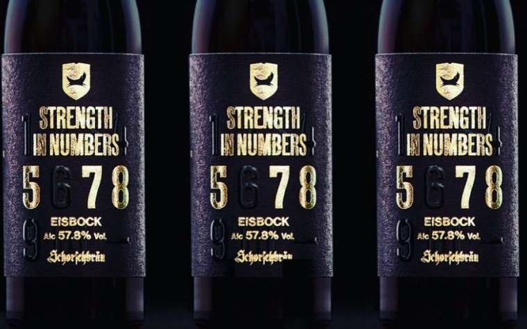 Three bottles of Strenght in The Numbers beer.