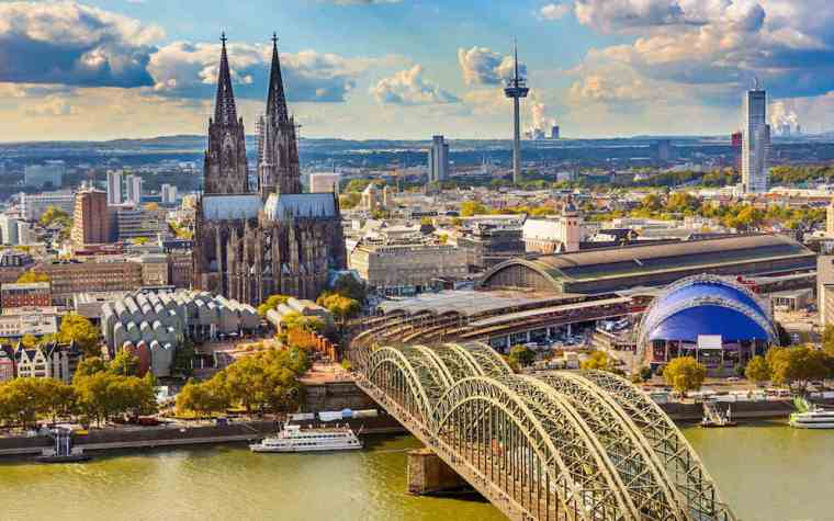 The modern city of Cologne Germany