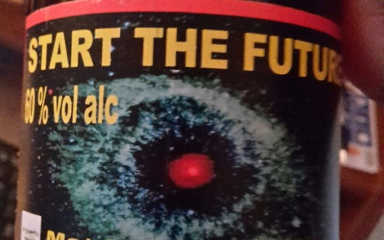 A bottle od start the future beer.