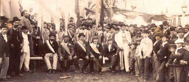 An old photo of German immigrants in Mexico.