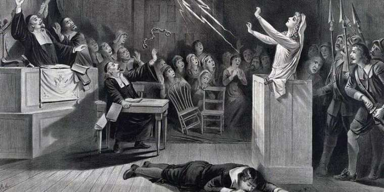 Women getting tried for being a witch