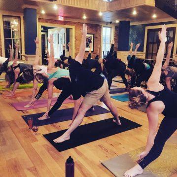 Vinyasa yoga at Brewery Becker Brighton MI