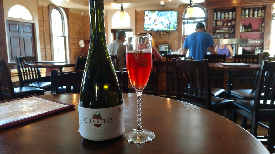 "Bottled ""Chartier"" a barrel aged Framboise lambic is back at Brewery Becker in Brighton, MI."