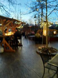 evening on the patio; biergarten; outdoor seating in Brighton MI; Brewery Becker