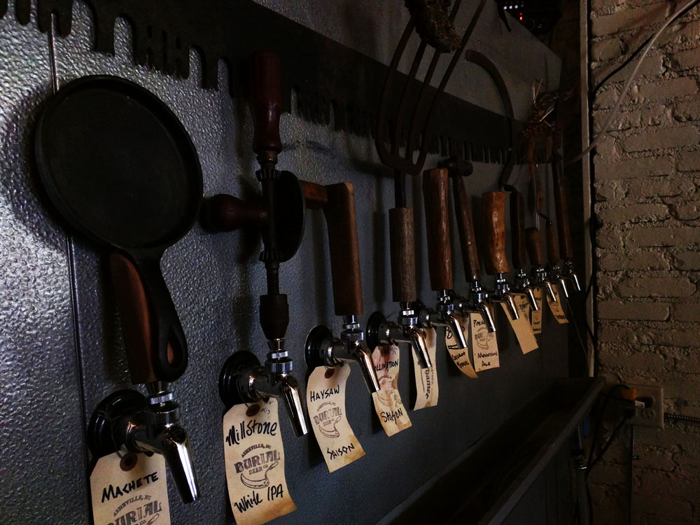Like the beers, each tap handle was different.