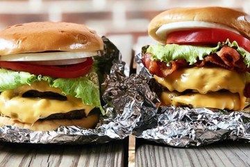 Two burgers from Cookout