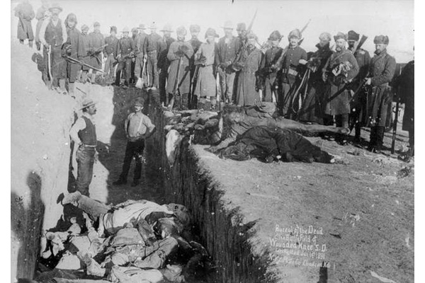 a history of the wounded knee massacre in the united states The largest mass shooting in american history is in fact the wounded knee massacre, where hundreds of lakota were slaughtered by the government.