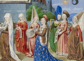 medieval ages middle revolution french manuscript liberal arts wieck clotheshorse roger philosophy attributed boethius presenting miniature seven detail
