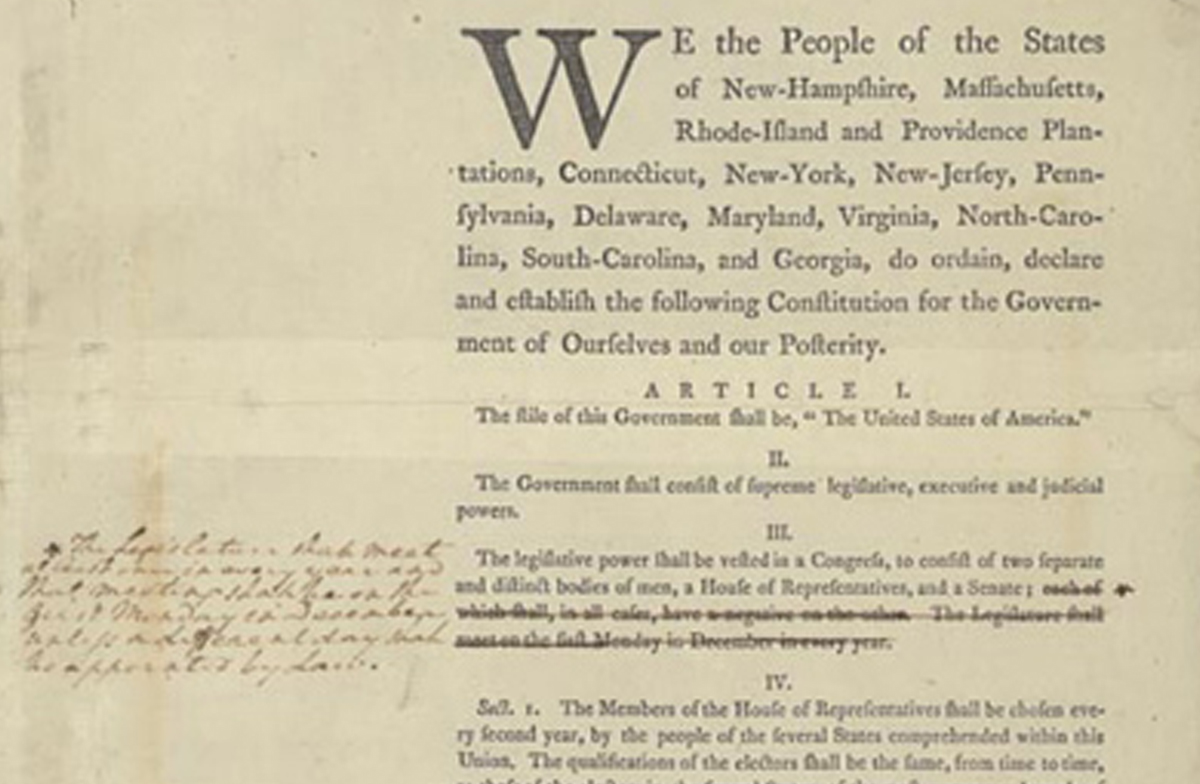 The Constitution And Bill Of Rights A History