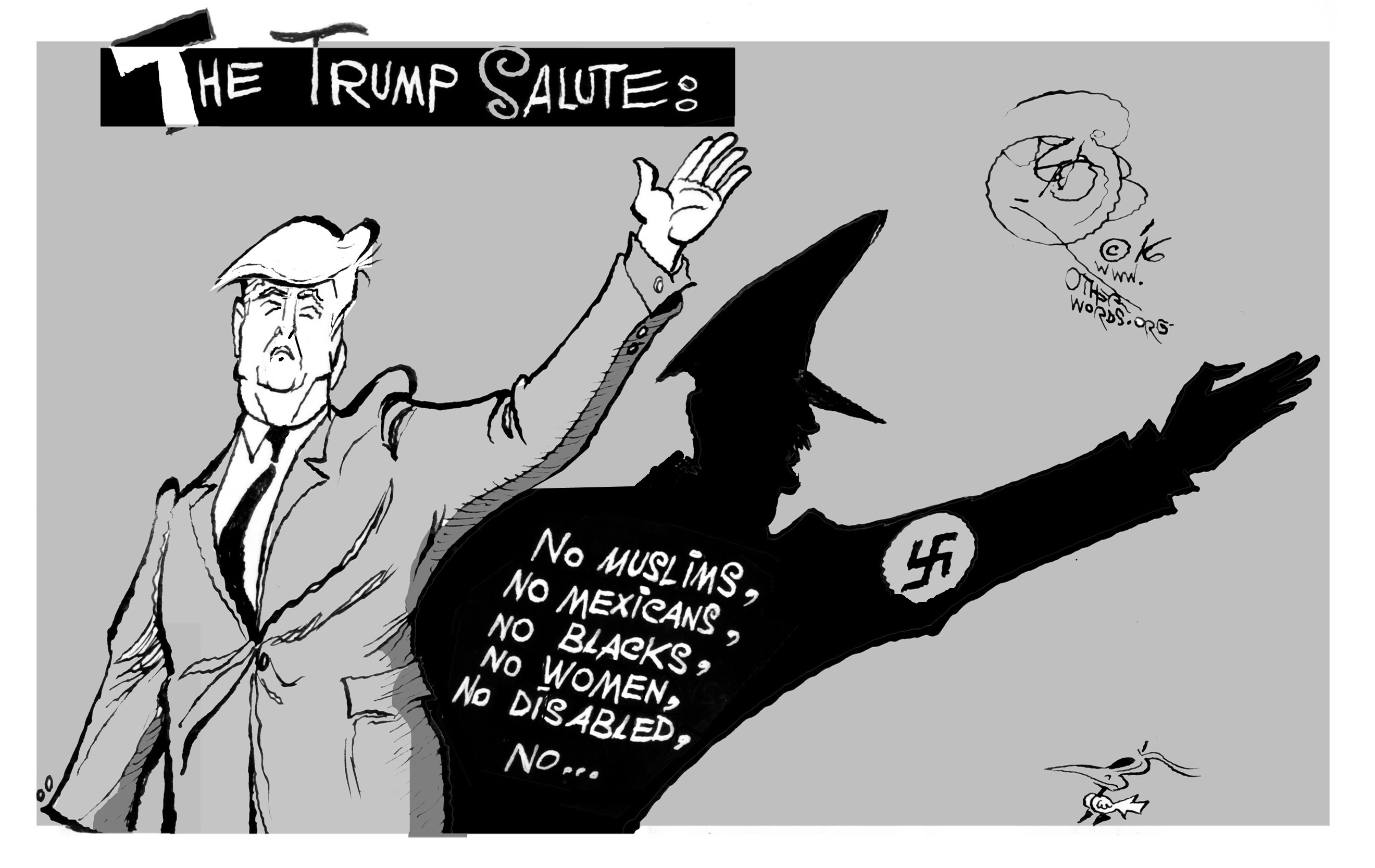 Image result for trump and hitler cartoons