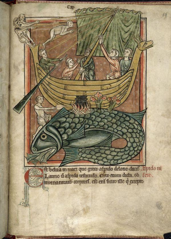 Medieval Bestiary Devil In Deep Blue Sea