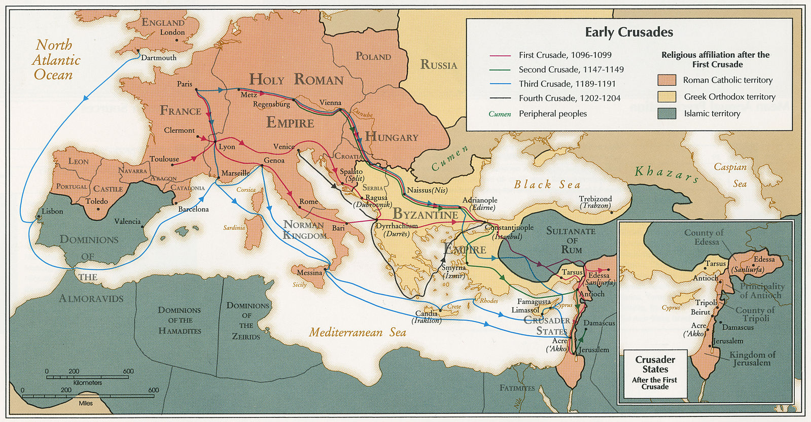 A Brief Overview Of The First Four Crusades