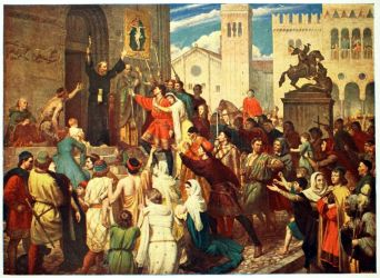 medieval anti pogroms semitism crusade history peter preaching hermit painting ages middle crusades religion centuries 15th 12th jewish jew england