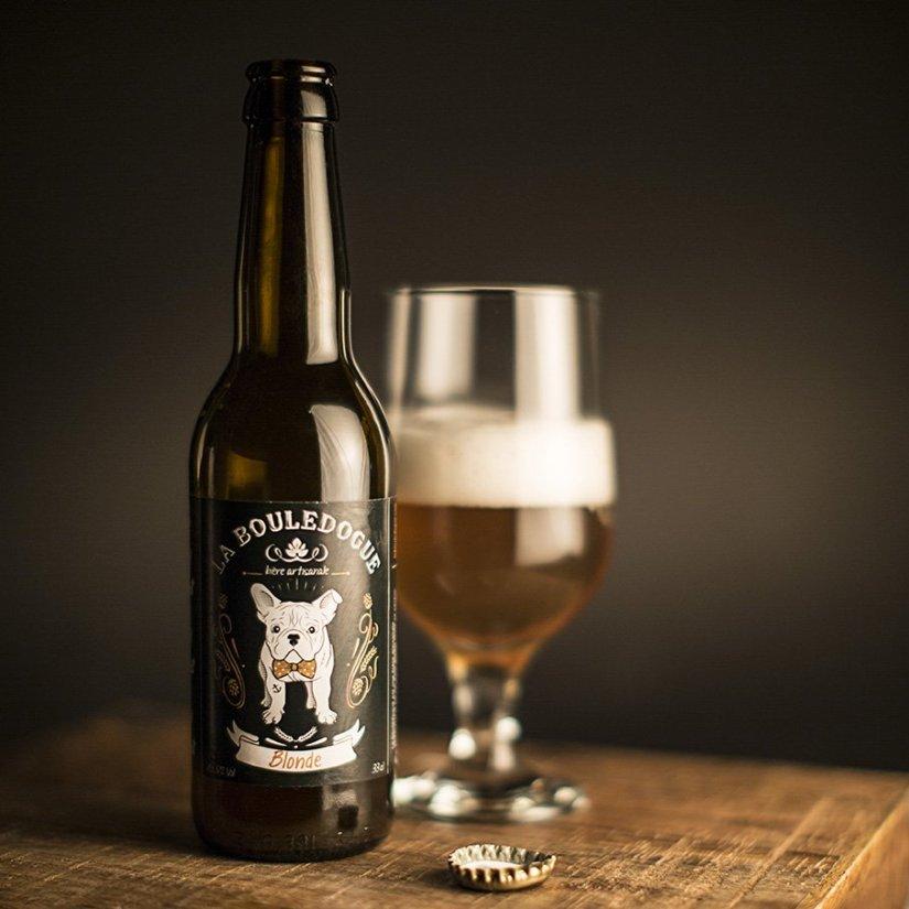 Bière blonde brasserie la bouledogue