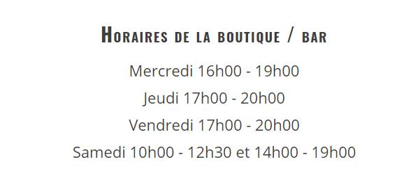 Horaire d'ouverture brasserie Cambier