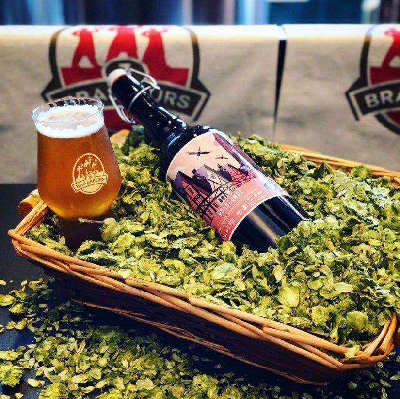 Bière houblonde brasserie 3 brasseurs