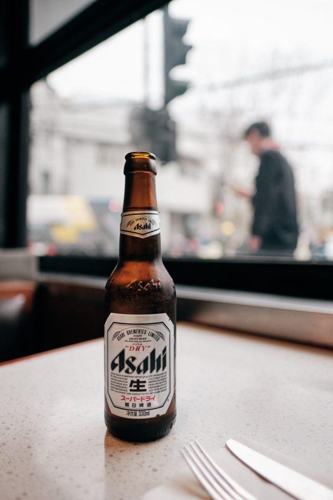 La marque de bière japonaise Asahi