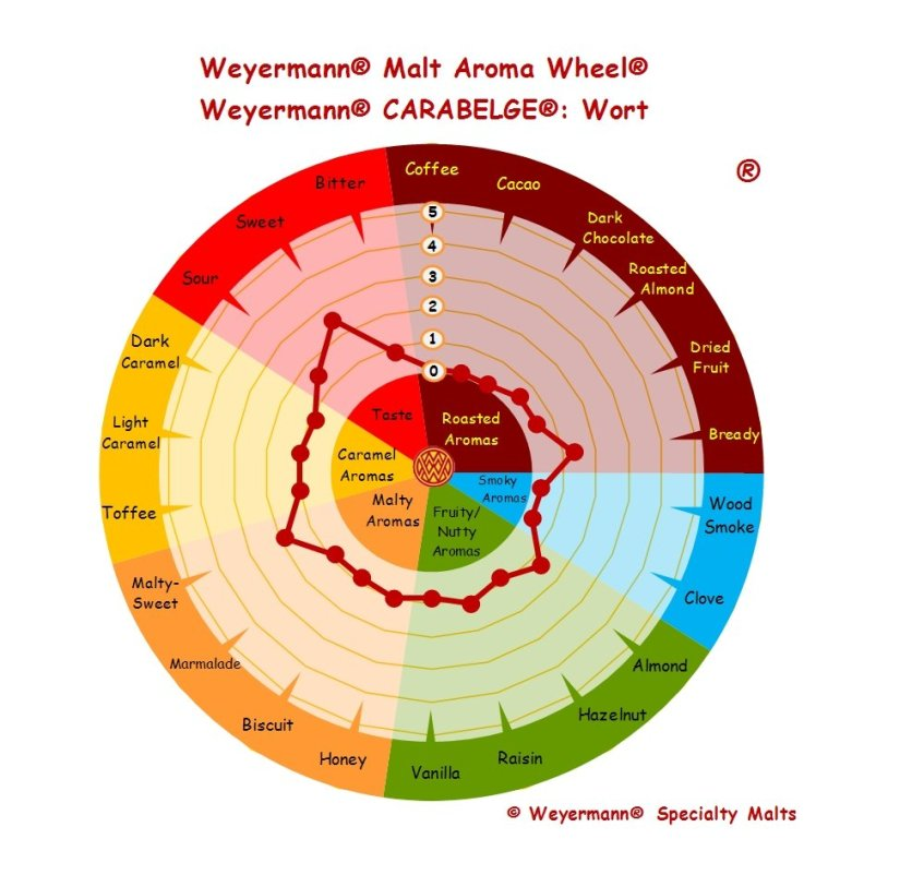 Profil aromatique Malt Carabelge