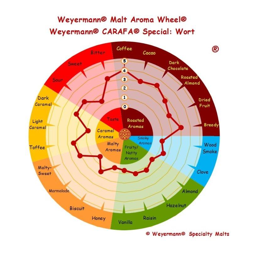 Profil aromatique Malt Carafa spécial