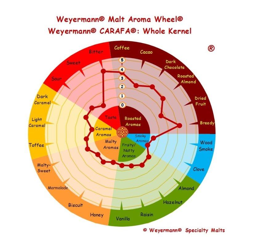 Profil aromatique Malt Carafa