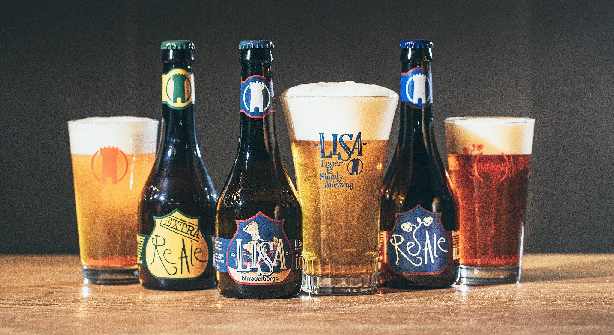 Gamme de bière Birra del Borgo