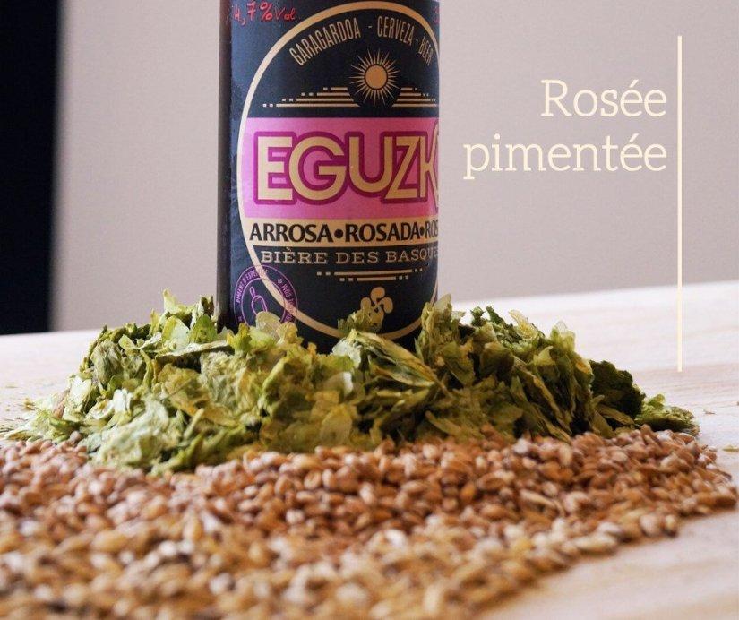 Bière basque Eguzki rosée pimentée