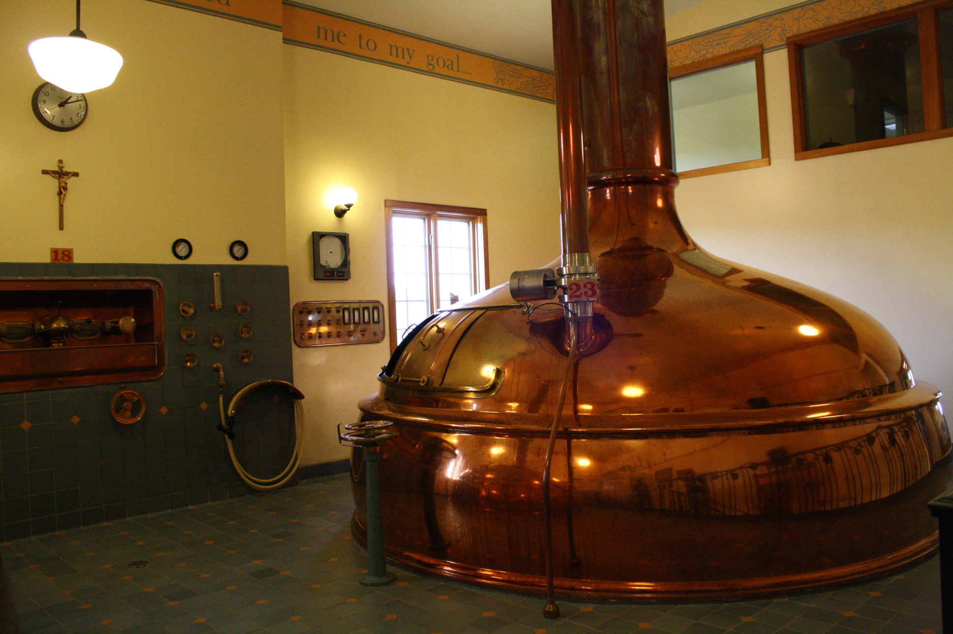 Where (some of) the magic happens.  The brewery, despite large demand, only distributes in the state of Wisconsin.  As their bottle-caps proclaim: Drink Indigenous!