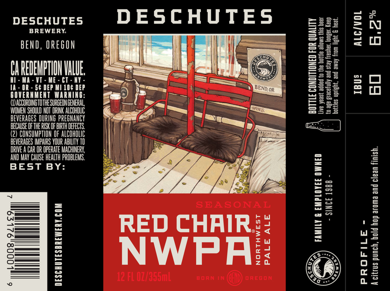 deschutes red chair high back sling patio chairs new oregon and washington craft beer labels submitted to ttb